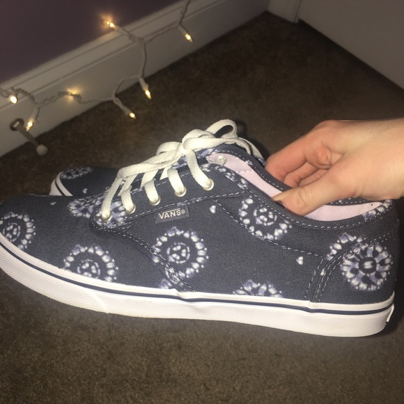 f9a640186c3 VANS Navy with tie-dye flower design. M 5a5124819a945518ea018e7c